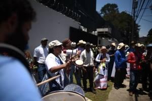Manifestación a favor de CICIG
