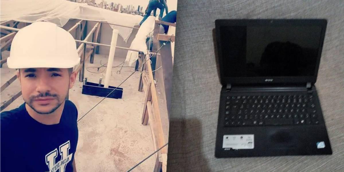 Solidariedade: jovem compra notebook roubado por R$ 30 para devolver ao dono