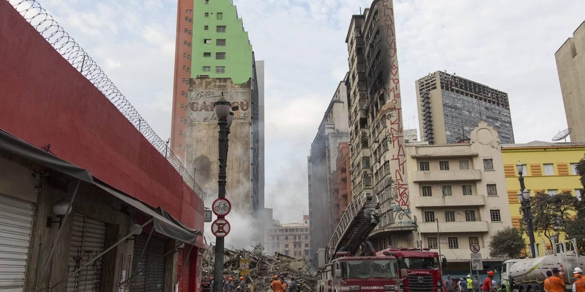 Defesa Civil libera dois prédios após tragédia no largo do Paissandu