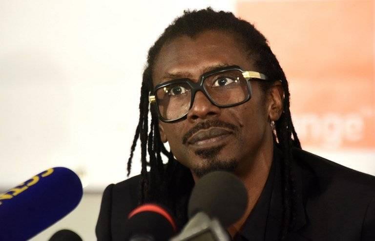 Aliou Cisse, técnico de la selección de Senegal