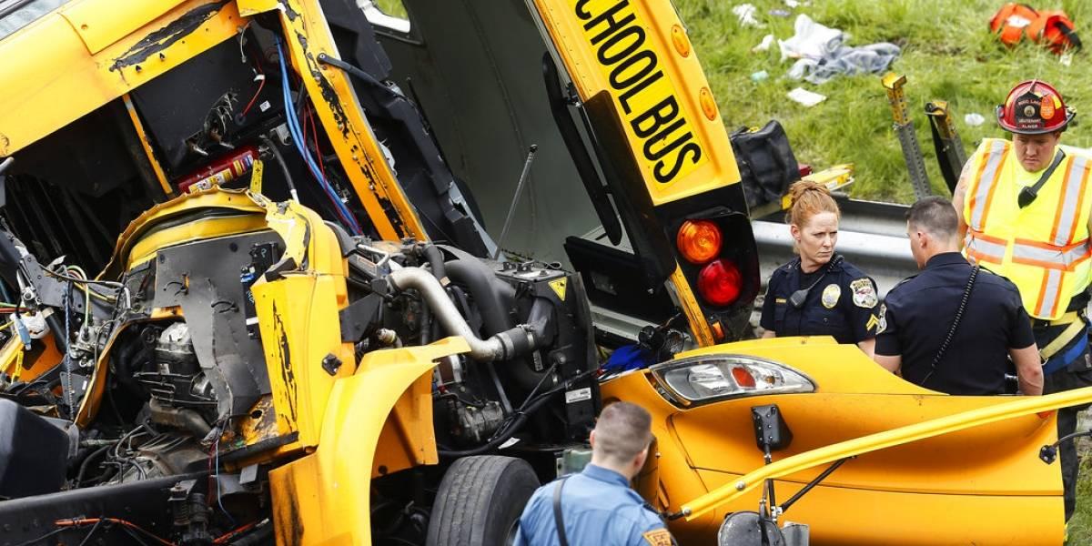 Múltiples heridos tras accidente de un autobús escolar en Nueva Jersey