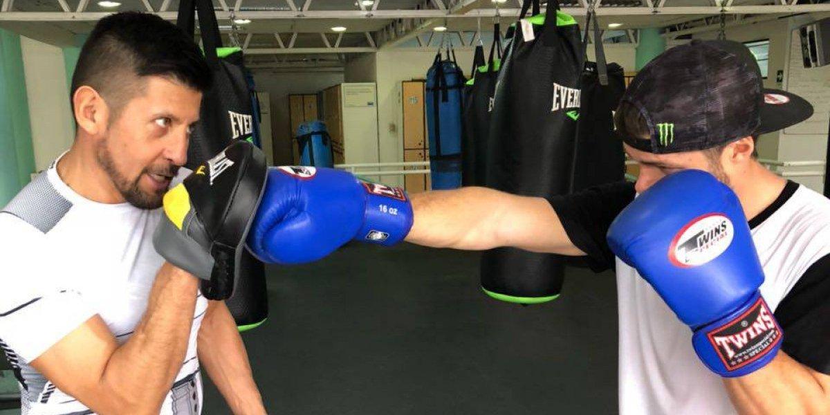 Benjamín y Vicente Israel celebran la UFC en Chile entrenando con una de sus disciplinas