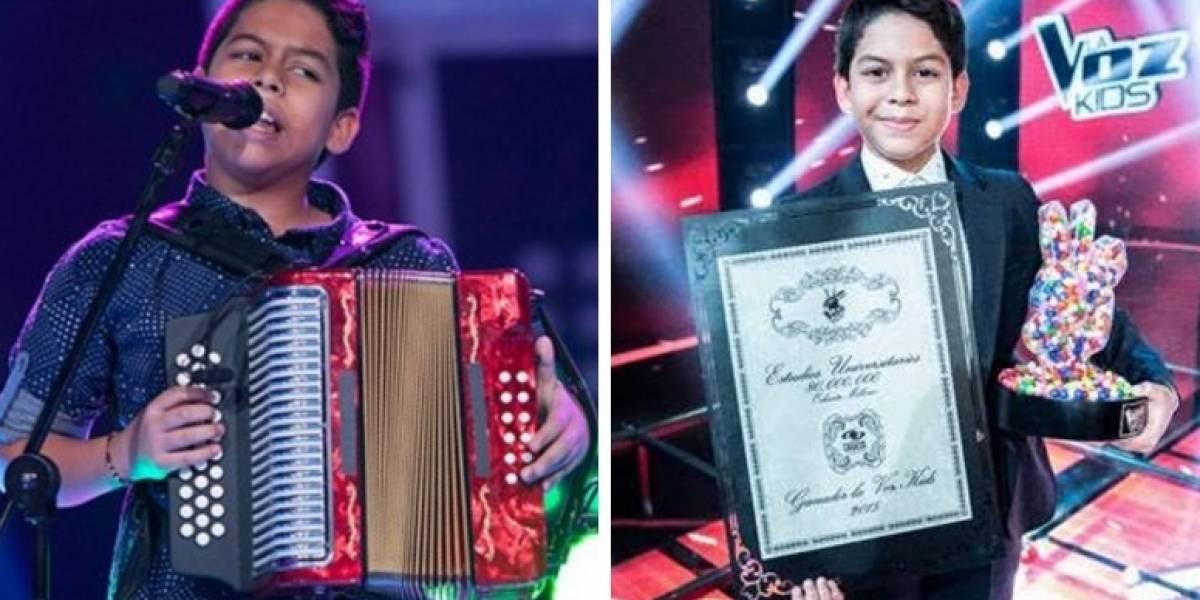 ¡Luis Mario, ganador de 'La Voz Kids', luce irreconocible!