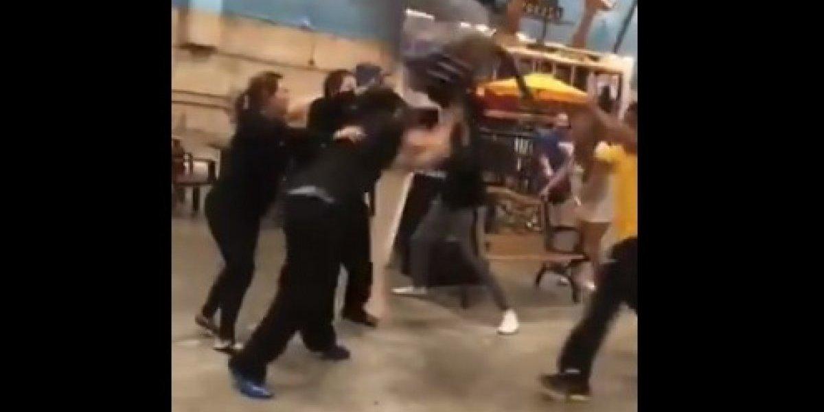 Batalla campal por una silla dejó varios heridos