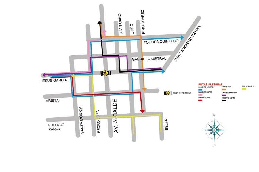 Nuevos cierres viales por obras en el Paseo Alcalde