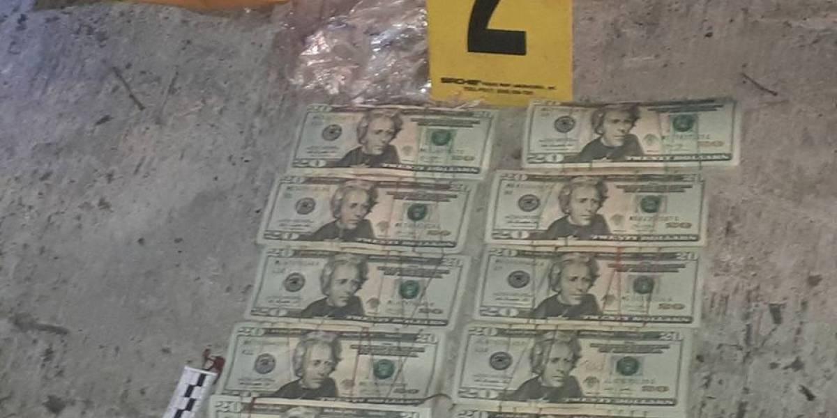 PNC localiza 40 mil dólares en vehículo abandonado en ruta a Chinautla