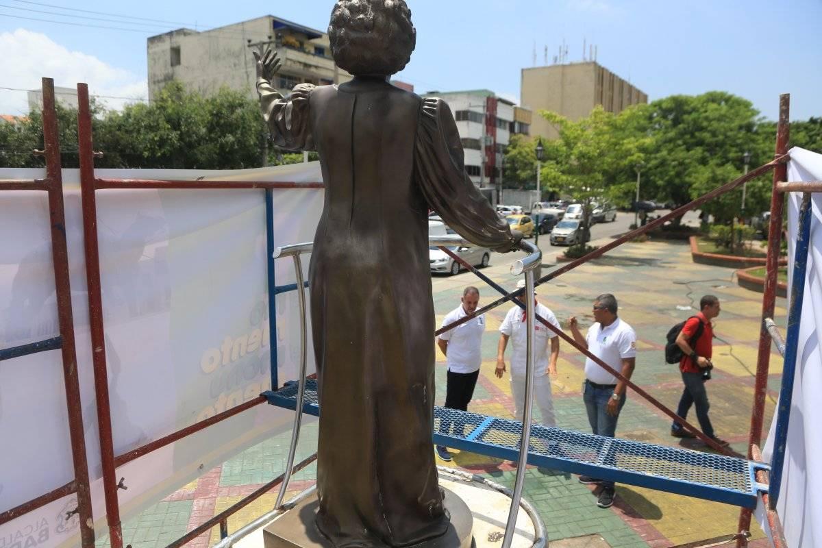Monumento de Esthercita Forero en Barranquilla. Jairo Cassiani