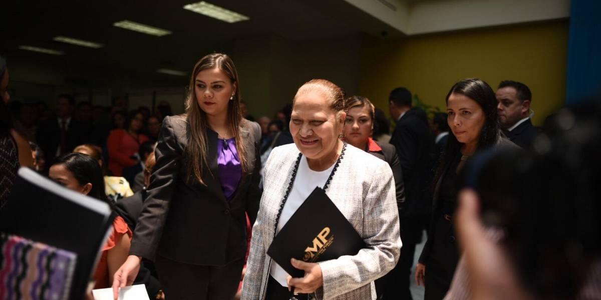 """Jefa del MP indica que ya se reunió con el fiscal que investiga el caso """"Financiamiento Electoral Ilícito"""""""