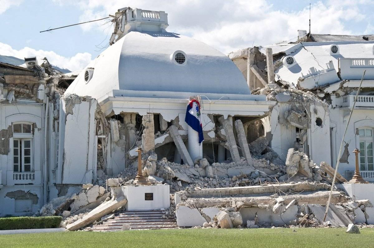 Palacio de presidencial de Haití, tras el terremoto