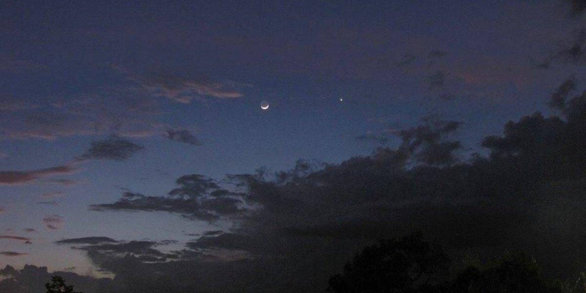 Conjunción de la luna creciente provocará hermosa vista celeste