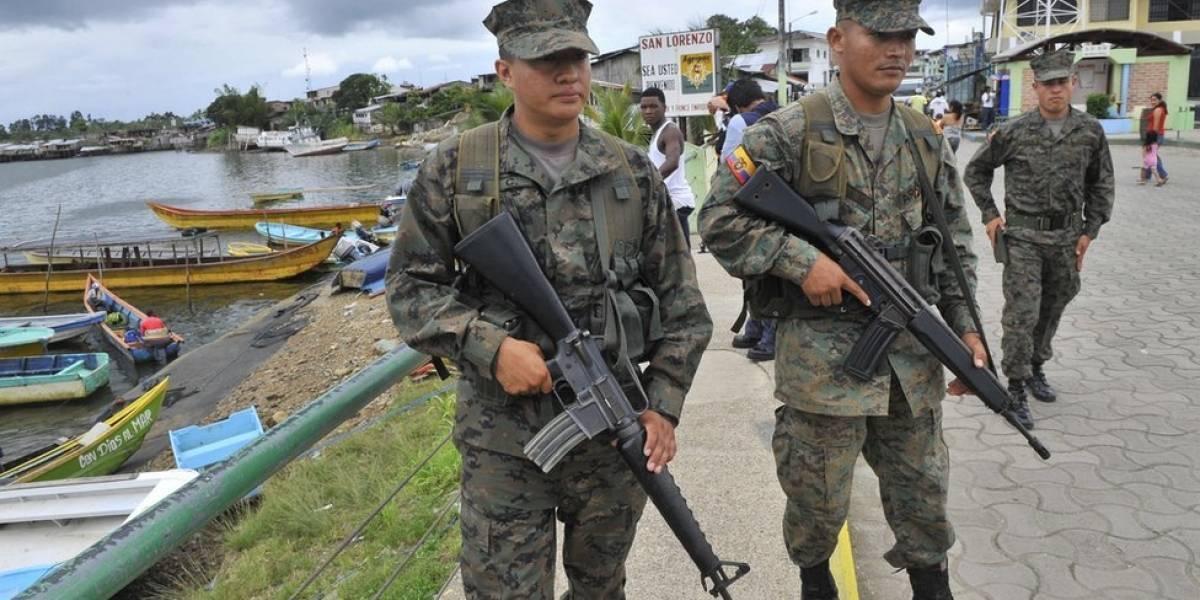 Una patrulla militar ecuatoriana permanece desaparecida en frontera con Colombia