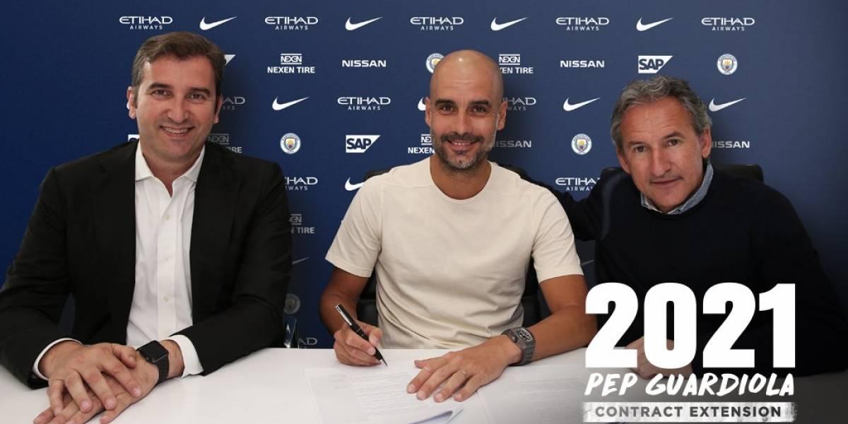 Pep Guardiola renovó contrato con Manchester City