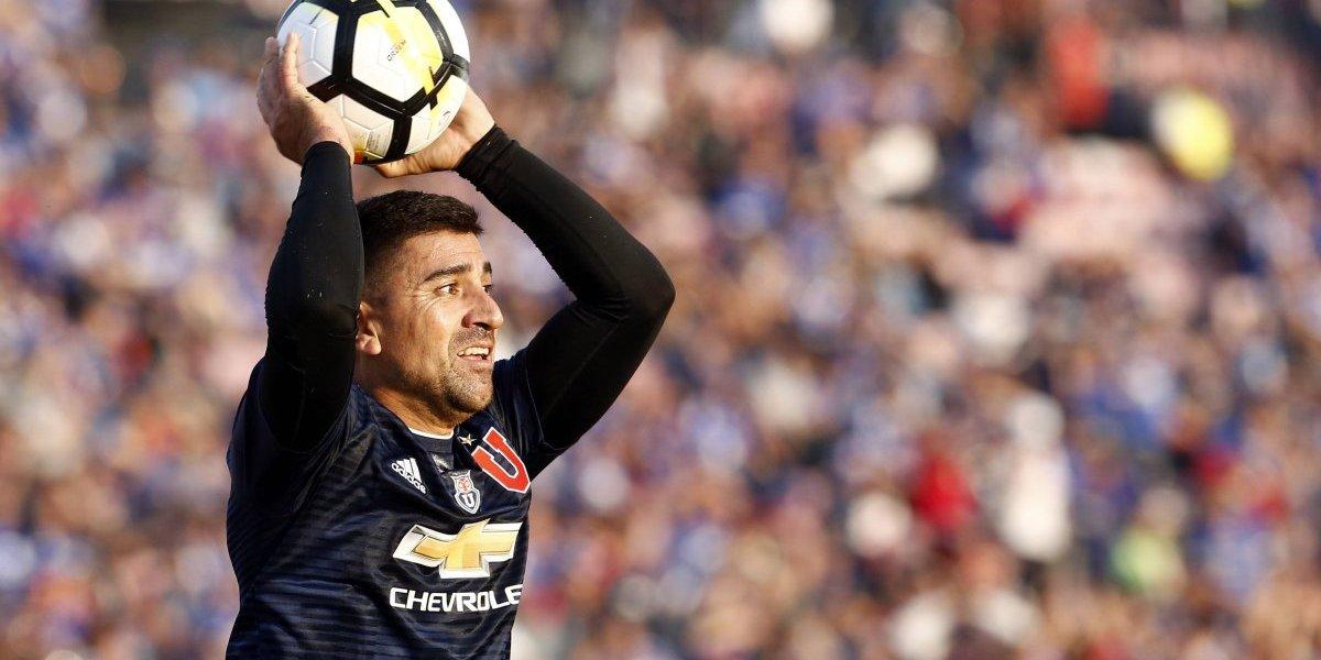 """David Pizarro es duda en la formación de la U ante Palestino """"por culpa"""" de Lorenzo Reyes"""