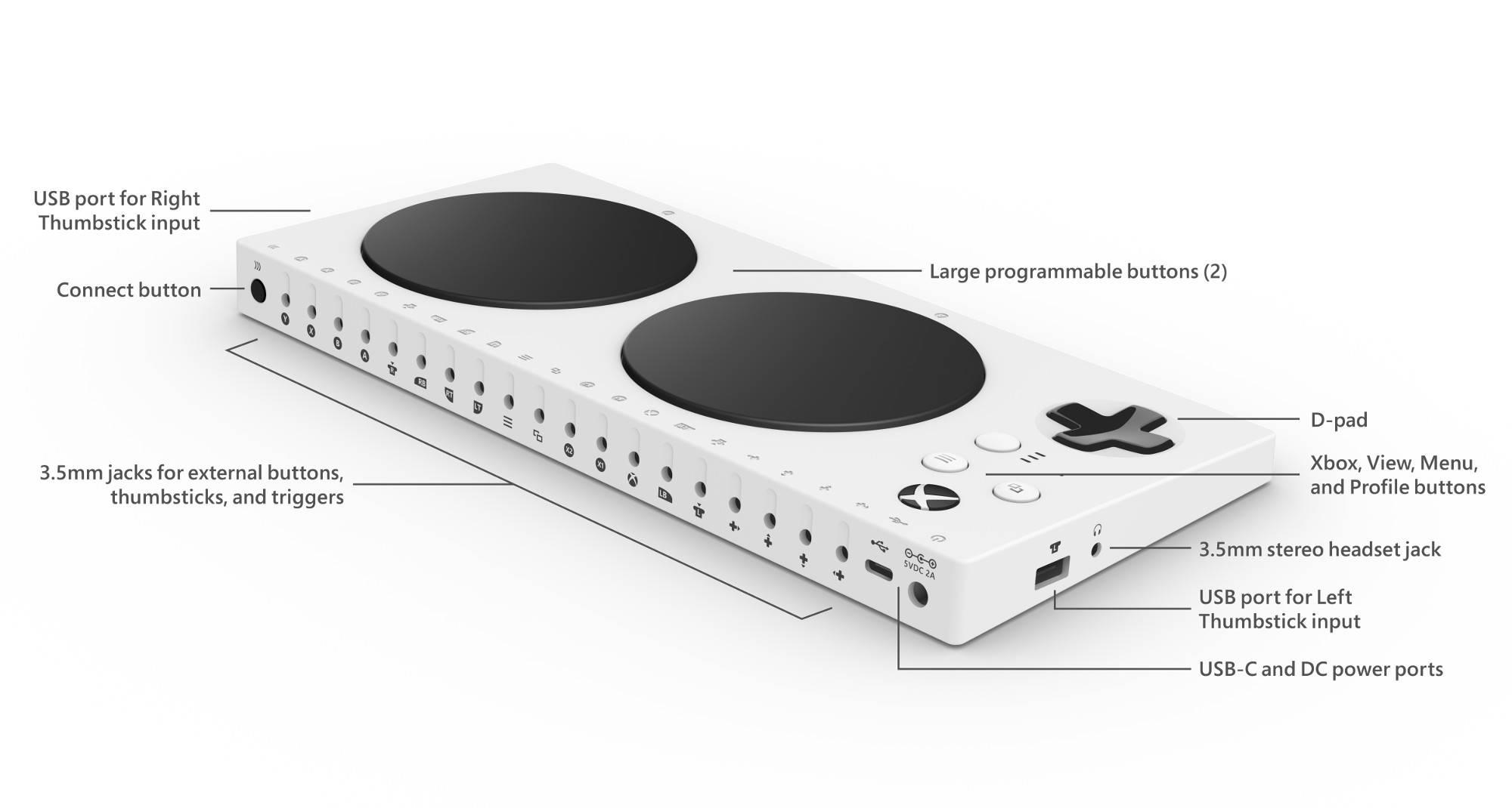 Xbox control adaptativo trasera