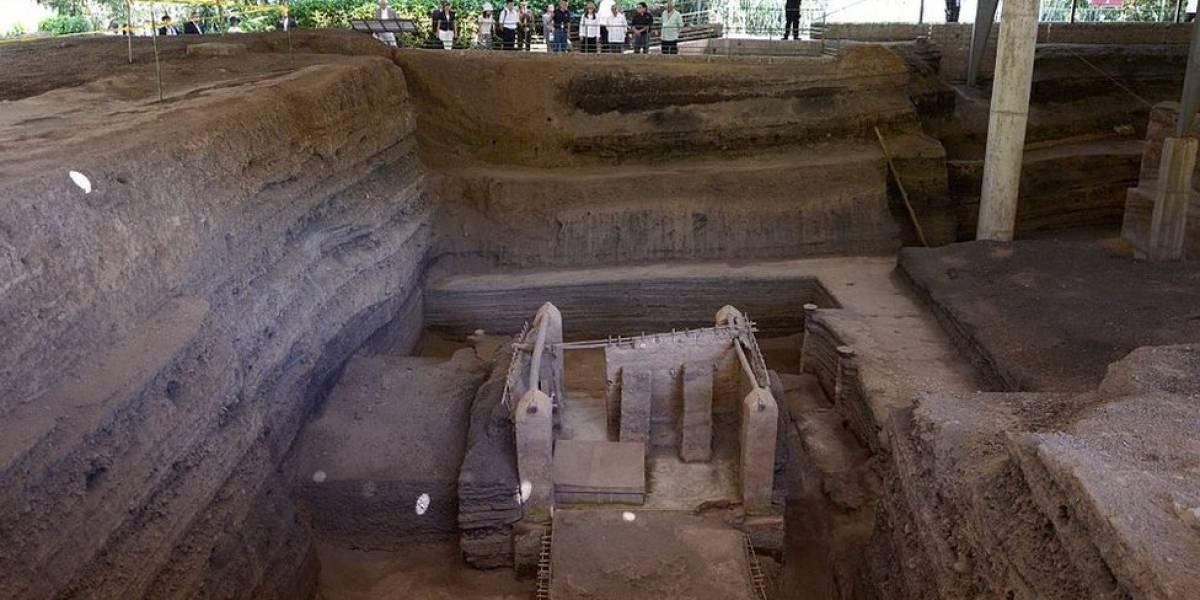 O sítio arqueológico coberto por lava de vulcão há 1.400 anos e que segue intacto