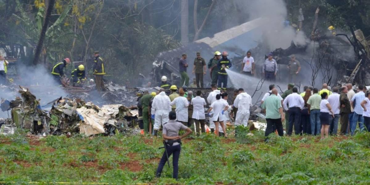 Publican video del momento exacto que cayó, dando vueltas, el avión de Cuba