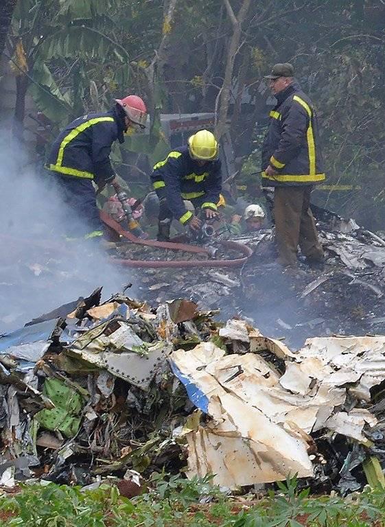 Accidente aéreo en Cuba Foto: AFP