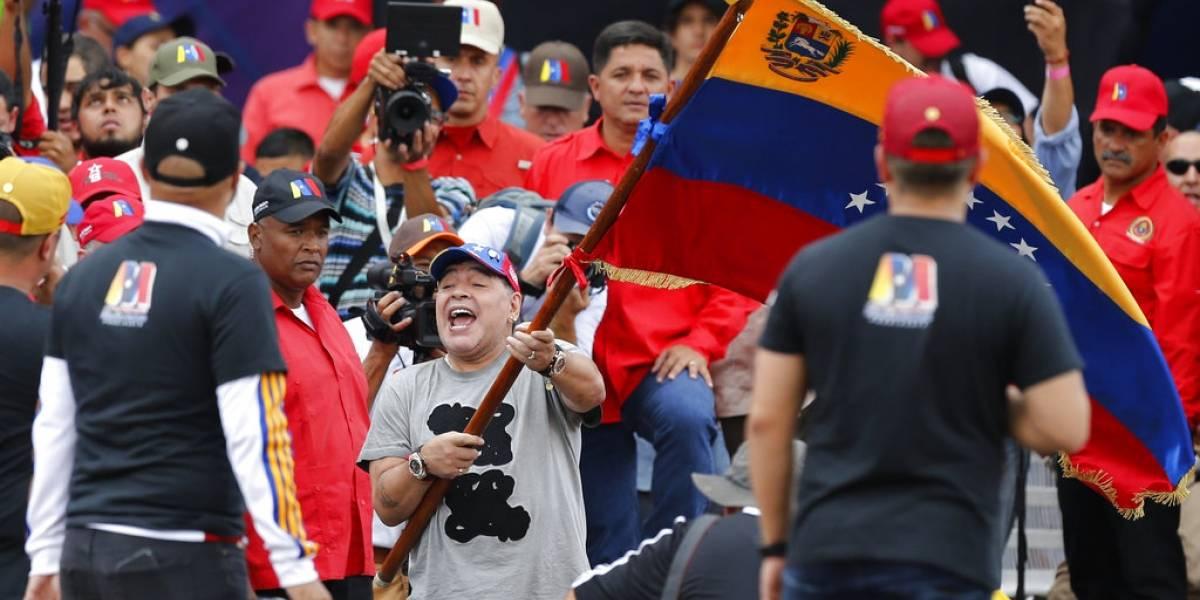 """Chilavert se las """"canta"""" a Maradona por su apoyo a Maduro: """"La droga no te deja razonar"""""""