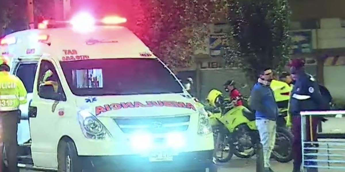Jóvenes le dieron una golpiza a Policía en Bogotá