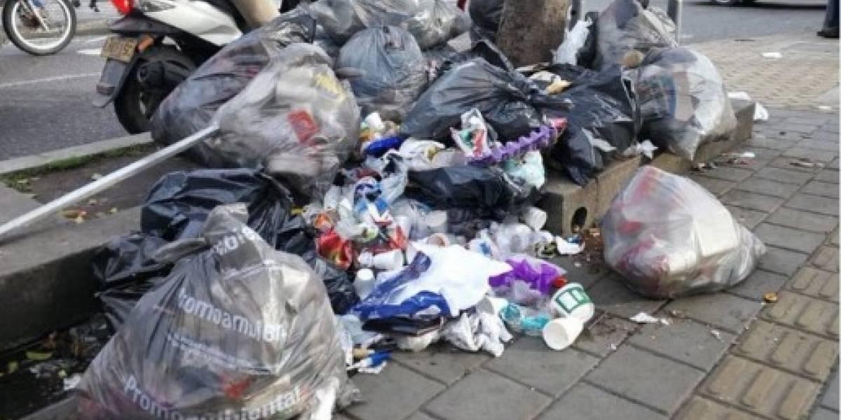 Bogotá amaneció nuevamente llena de basuras en las calles