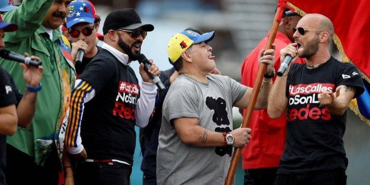 VIDEO: Maradona apoya a Nicolás Maduro; Chilavert ataca a Diego con la droga