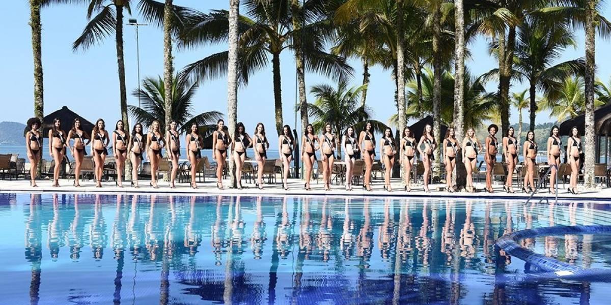 Candidatas ao Miss Brasil desfilam de biquíni para o júri técnico