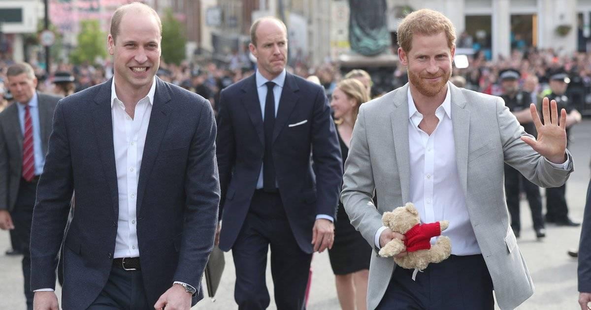 príncipe Harry e o irmão, William