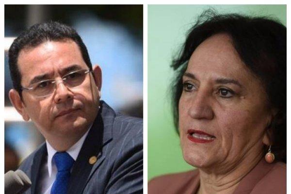 Anabella Morfin y Jimmy Morales