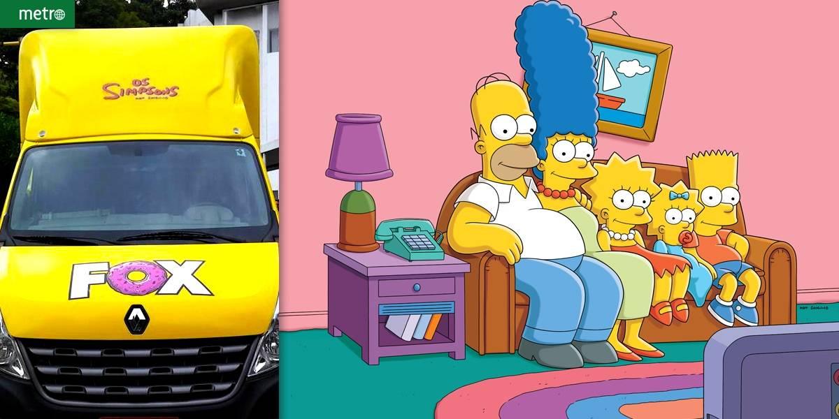 Estreia de 'Os Simpsons' traz para SP van que reproduz cenário da série