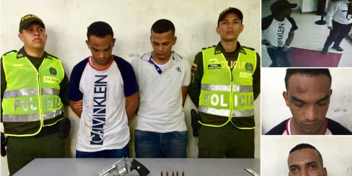 'Taquillazo' en banco: Capturan a dos presuntos ladrones de 60 millones
