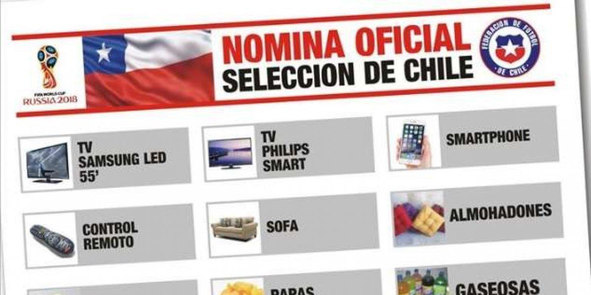 """""""La nómina oficial de Chile para el Mundial"""": la notable burla a la Roja en Uruguay"""