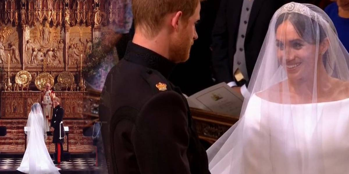 ¡Mágico! Así lucieron Meghan Markle y el príncipe Harry en el altar