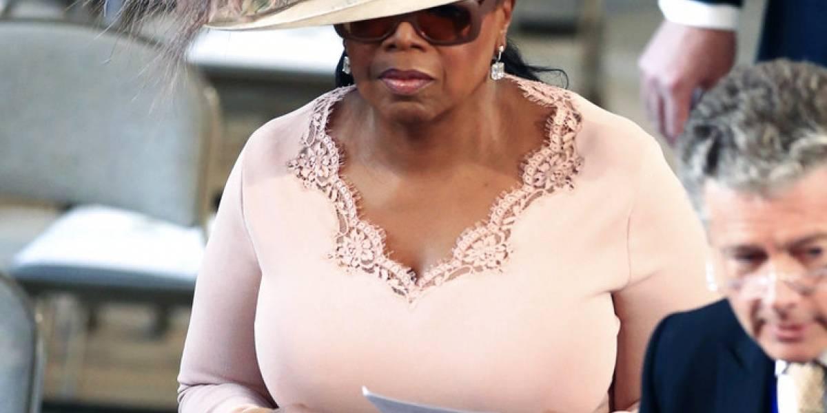 Oprah por poco 'mete las patas' en la boda real