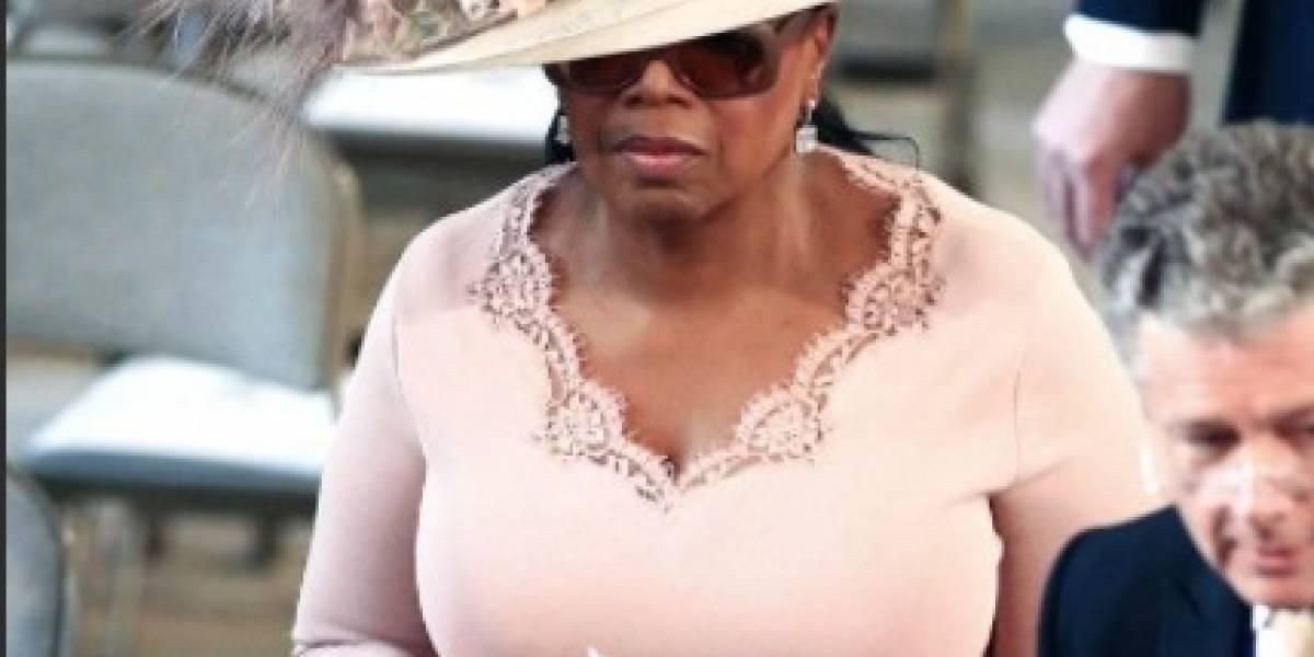 Oprah Winfrey por poco 'mete las patas' en la boda real