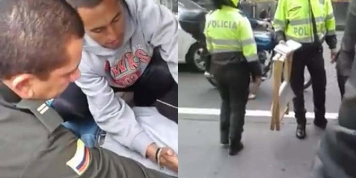 Policías abordaron a vendedor ambulante y este sufrió un ataque cardíaco