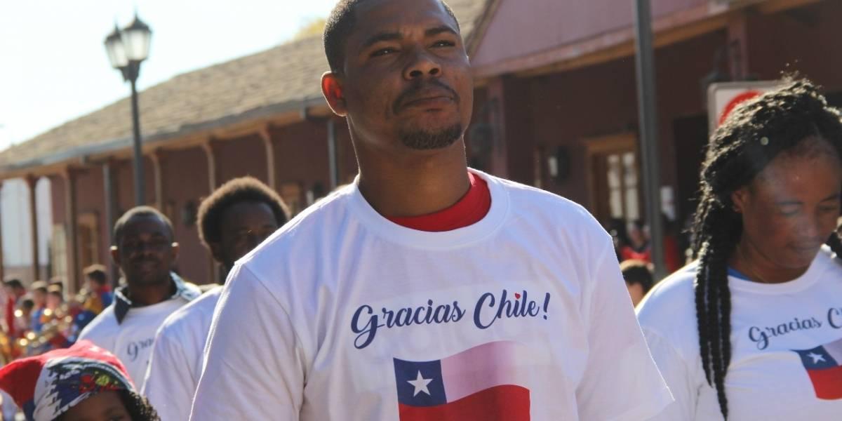 """Así fue la celebración del """"Día de la bandera de Haití"""" en la comuna de Santa Cruz"""