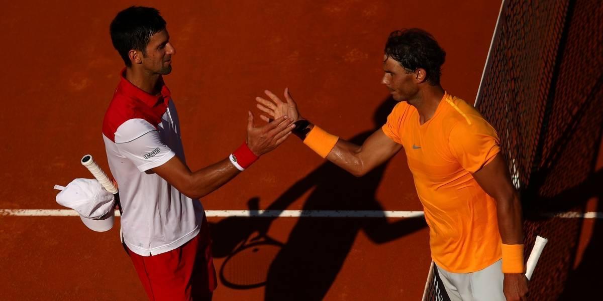 """Nadal le ganó su """"clásico"""" a Djokovic en Roma y queda a un paso de recuperar el Nº1"""