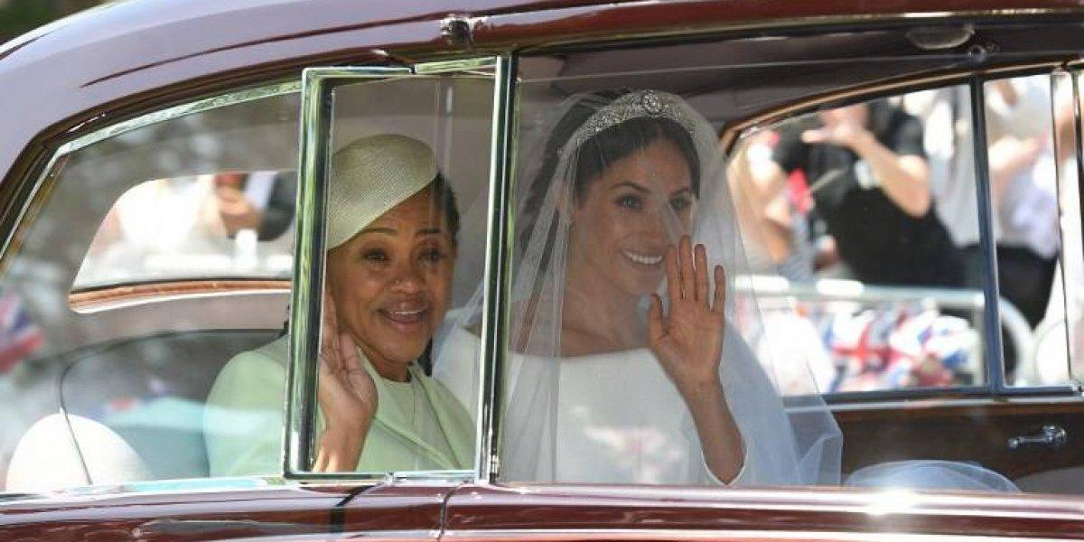 Las imágenes del imponente vestido de novia de Meghan Markle