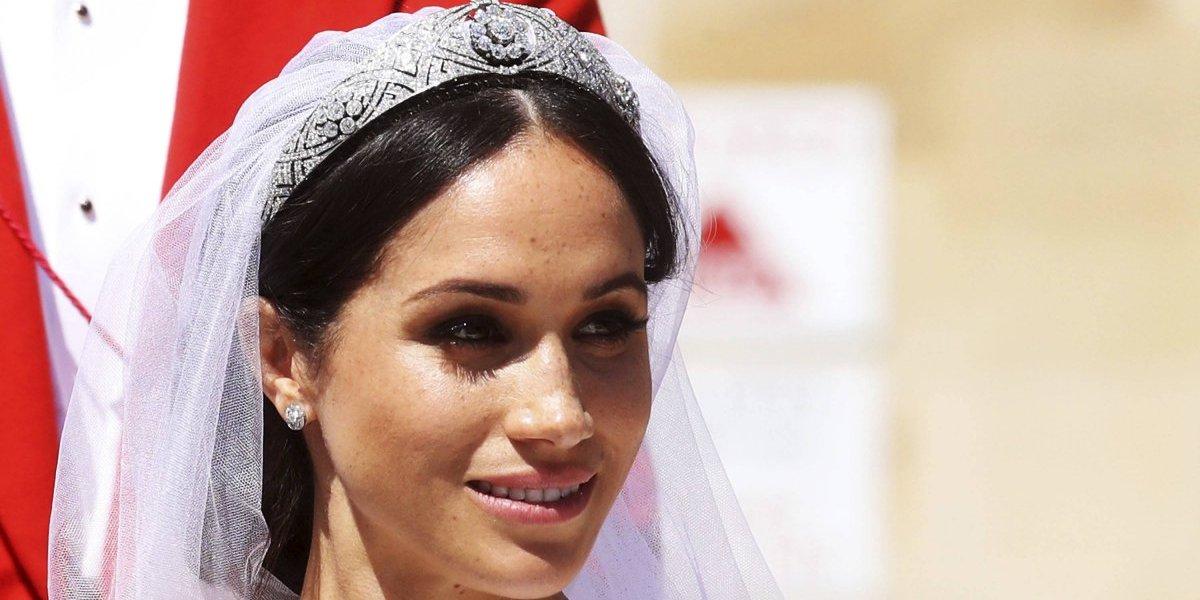 La polémica tiara que usó Meghan Markle para la boda real