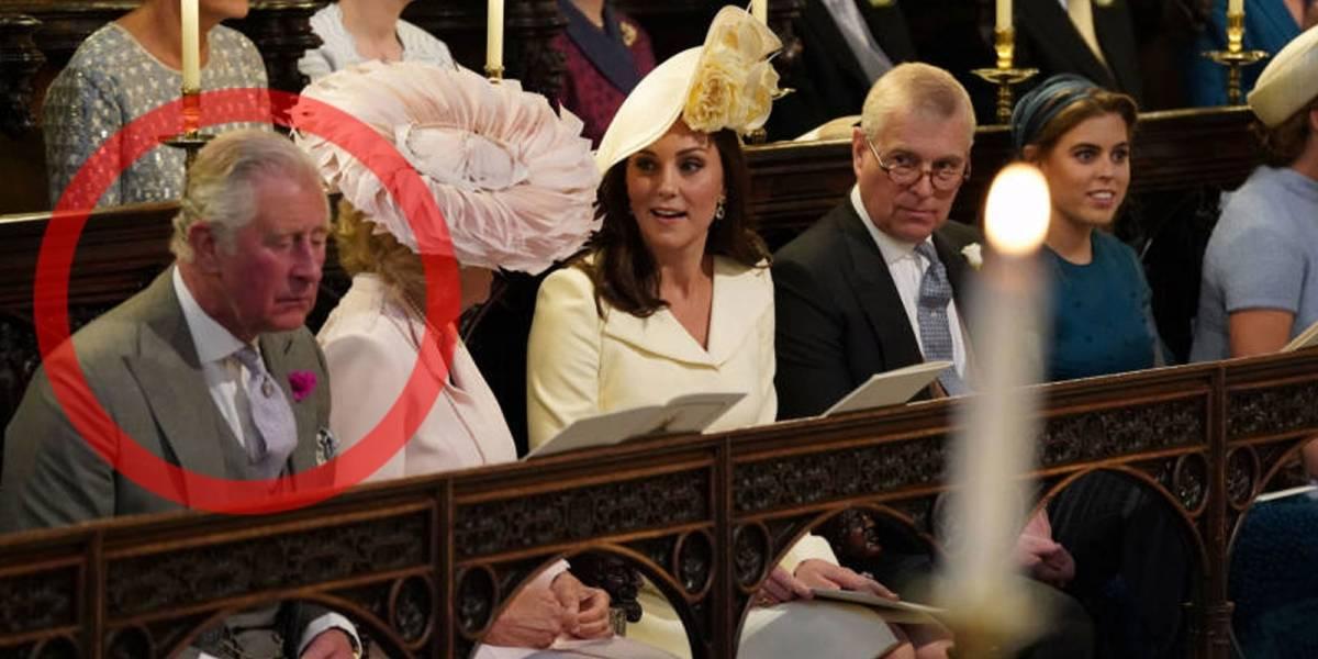 ¿El príncipe Carlos se quedó dormido en la boda de Meghan y el príncipe Harry?