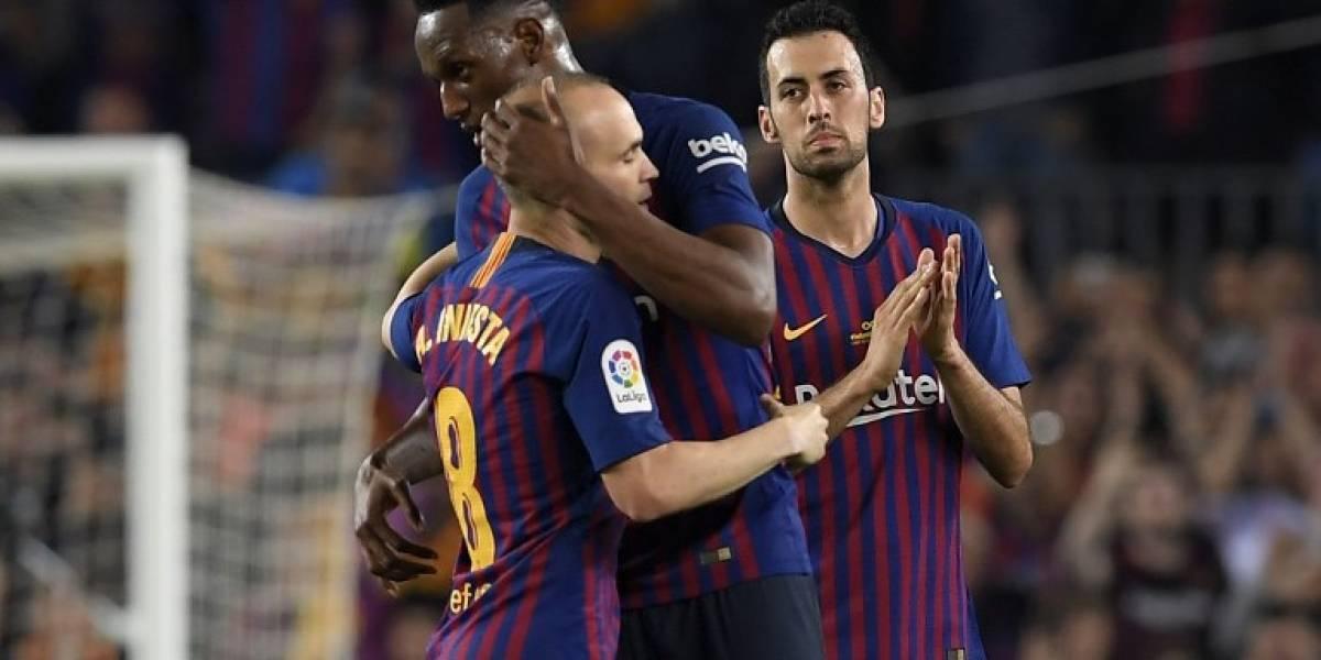 Barça derrota a la Real Sociedad e Iniesta dice adiós