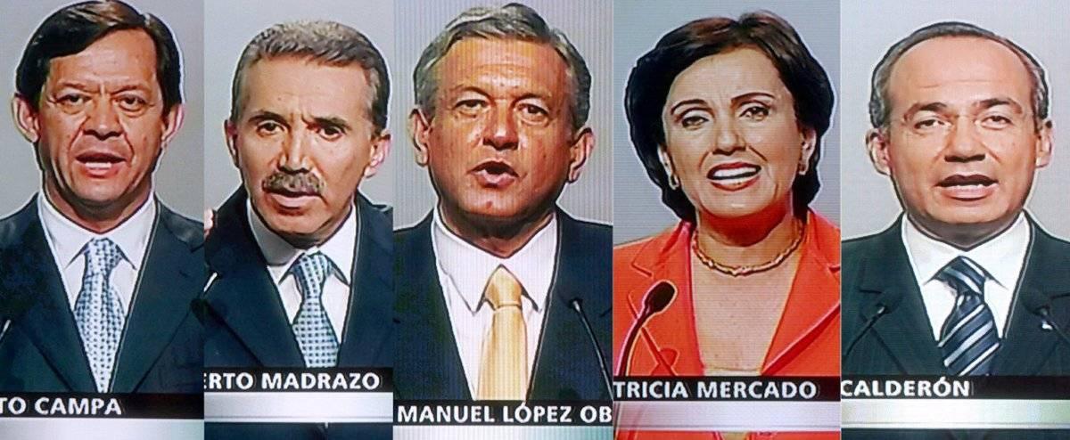 Los cinco candidatos presidenciales de 2006 Foto: Cuartoscuro
