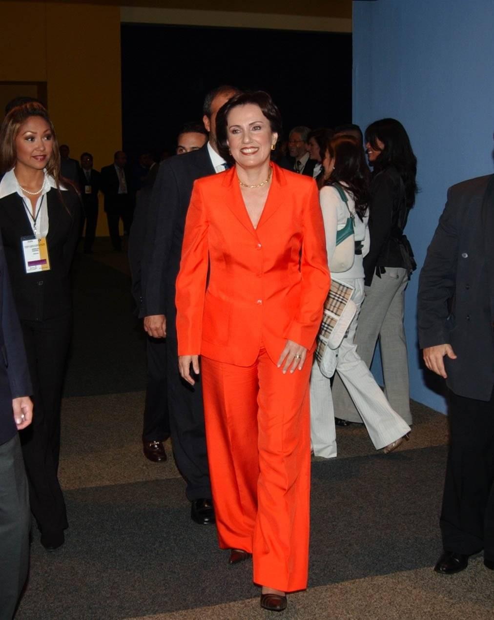 Patricia Mercado candidata presidencial por el Partido Alternativa Social a su arrivo en el interior de las instalaciones del World Trade Center Foto: Cuartoscuro