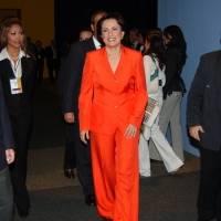 Patricia Mercado candidata presidencial por el Partido Alternativa Social a su arrivo en el interior de las instalaciones del World Trade Center