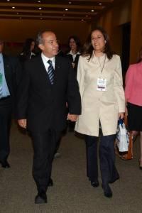 Felipe Calderón candidato presidencial por el PAN a su arrivo en el interior de las instalaciones del World Trade Center,