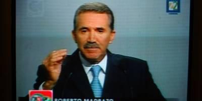 Roberto Madrazo Pintado, candidato presidencial de la alianza PRI-PVEM durante su participación en el segundo debate