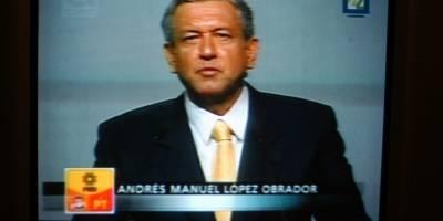 Andrés Manuel López Obrador, candidato presidencial de la alianza PRD-PT-Convergencia