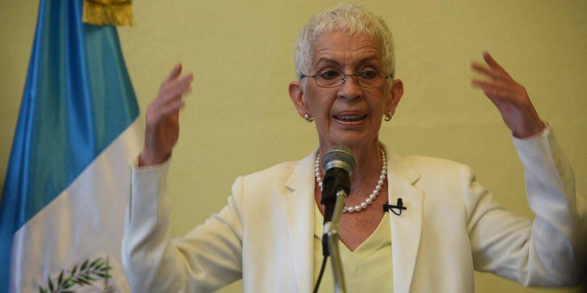"""Adela de Torrebiarte: """"Era necesario señalar que se está debilitando el apoyo a la PNC"""""""