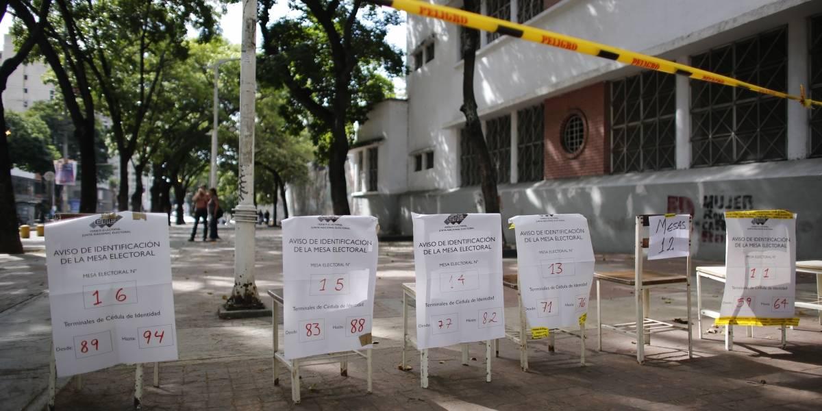"""""""Calles desiertas"""": Imágenes muestran una jornada electoral en Venezuela sin votantes"""