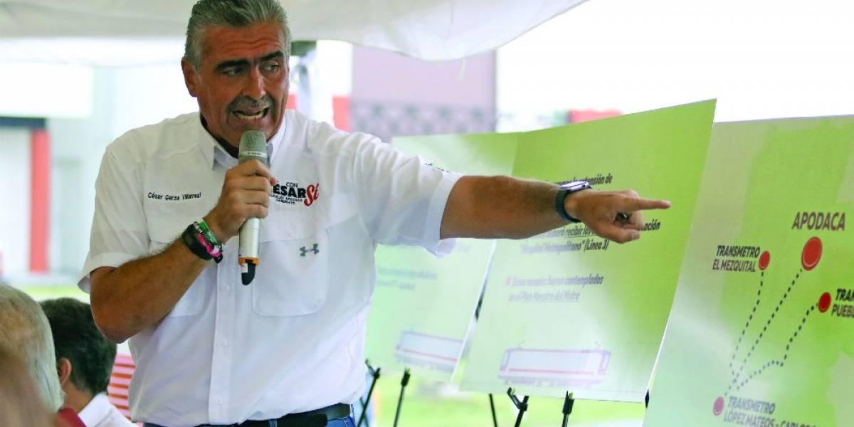 Propone César Garza tres ramales de Transmetro